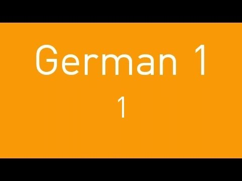 Learn German - Lesson 1